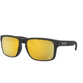 Oakley Holbrook Gafas de Sol Hombre, matte black tortoise/prizm 24k polarized